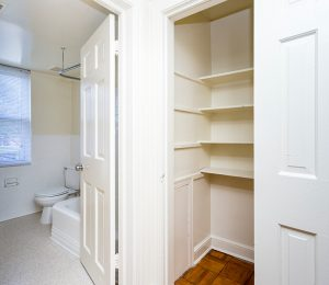 Queens Manor Apartments Closet and Bathroom